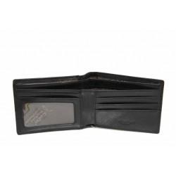 Функционален мъжки портфейл от естествена кожа / Съни 110053 черен / MES.BG