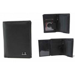 Функционален мъжки портфейл от естествена кожа / Съни 649 черен / MES.BG