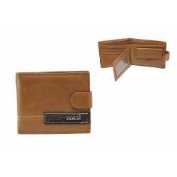 Мъжки портфейл от естествена кожа / Съни 140 кафяв / MES.BG