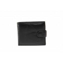 Мъжки портфейл от естествена кожа / Съни 71-008 черен / MES.BG