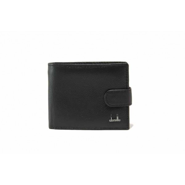 Мъжки портфейл от естествена кожа / Съни 713 черен / MES.BG