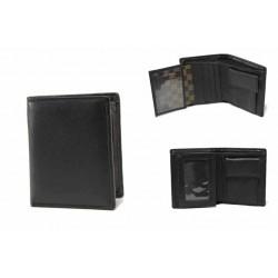 Мъжки портфейл от естествена кожа / Съни 007 черен / MES.BG
