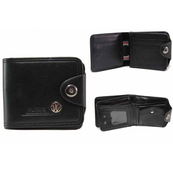 Функционален мъжки портфейл с метална емблема / Съни 72-05 черен / MES.BG