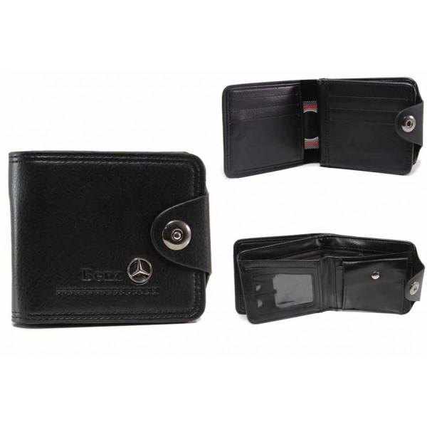 Функционален мъжки портфейл с метална емблема / Съни 72-02 черен / MES.BG