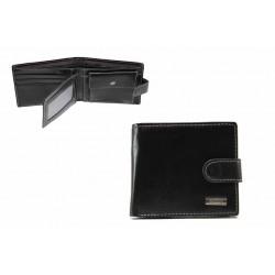 Функционален мъжки портфейл с метална емблема / Съни 72-03 черен / MES.BG