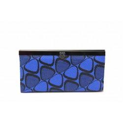 Шарено дамско портмоне с удобно закопчаване / Съни 7000-18 син / MES.BG