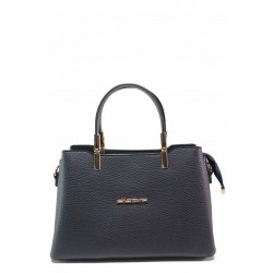 Компактна дамска чанта с удобно вътрешно разпределение / МИ 448 черен / MES.BG