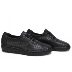 Български спортни обувки, естествена кожа, дишащи, анатомични / НЛМ 341-1608 черен / MES.BG