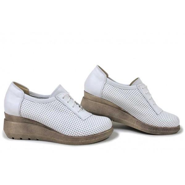 Анатомични обувки за пролетта и лятото, естествена кожа, България / НЛМ 341-19422 бял / MES.BG