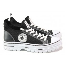 Юношески спортни обувки, ''дишаща'' материя, връзки / СИ 2058 черен / MES.BG