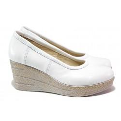 Анатомични обувки на платформа, дамски, естествена кожа, леки / НЛ 299-96145 бял / MES.BG