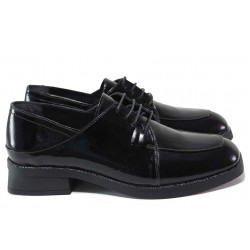 Анатомични обувки, естествена кожа-лак, дамски, класически / МИ 402-22 черен лак / MES.BG