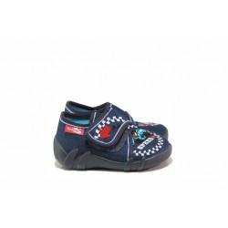 Анатомични бебешки пантофи с кожена стелка / МА 13-110 синя формула 20/25 / MES.BG