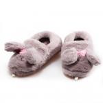 Домашни детски пантофки, пухкави, удобни / Bull P 82-6 сиво зайче / MES.BG