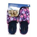 Удобни домашни чехли с флорален мотив, анатомични, дамски / Defonseca ROMA TOP W701 цветя / MES.BG