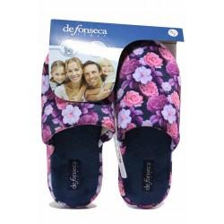 Анатомични домашни чехли с флорален мотив, удобни, дамски / Defonseca ROMA TOP W701 цветя / MES.BG