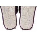 Дамски домашни чехли с мека анатомична подметка,  флорален мотив / Defonseca ROMA TOP W701 лилав / MES.BG