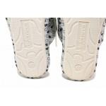 Олекотени домашни чехли, анатомични, апликация / Defonseca ROMA TOP W747 сив-коте / MES.BG