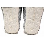 Анатомични домашни чехли със закачлива бродерия / Defonseca ROMA TOP W747 сив / MES.BG