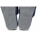 Анатомични мъжки чехли, домашни, еластична подметка / Defonseca ROMA TOP M724 син / MES.BG