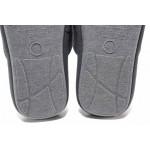 Анатомични домашни чехли, еластична подметка, кариран принт / Defonseca ROMA TOP M720 сив / MES.BG
