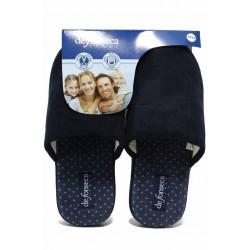 Удобни мъжки домашни чехли с еластична подметка, анатомични / Defonseca ROMA TOP M710 син / MES.BG