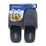 Анатомични мъжки домашни чехли с удобна гъвкава подметка / Defonseca ROMA TOP P M00 сив / MES.BG