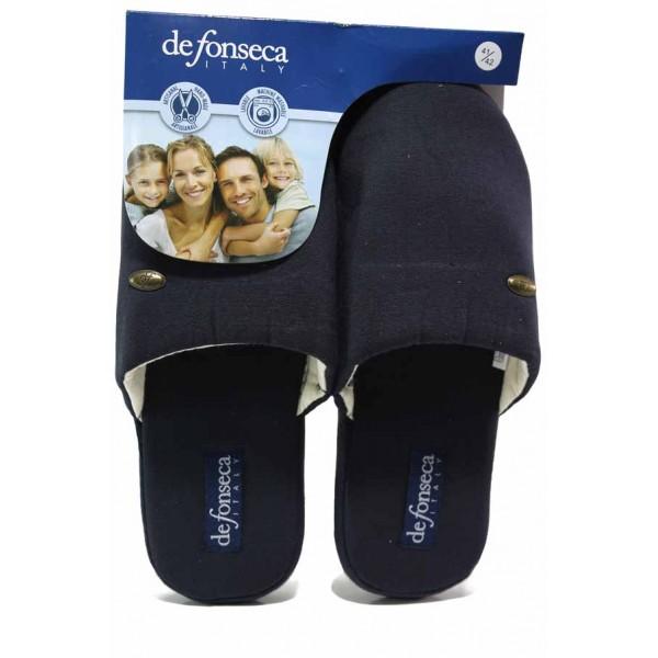 Комфортни домашни чехли, мъжки, гъвкава подметка / Defonseca ROMA TOP P M00 син / MES.BG