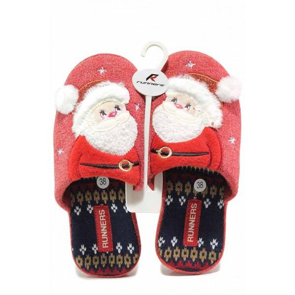 Коледни анатомични домашни чехли Санта Клаус / Runners 212-20546 червен / MES.BG