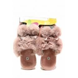 Анатомични домашни чехли в нежно розов цвят / Bulldozer 212-3 розов / MES.BG