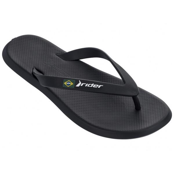Комфортни мъжки бразилски чехли с лента между пръстите / Bull Rider 10594/20780 черен / MES.BG