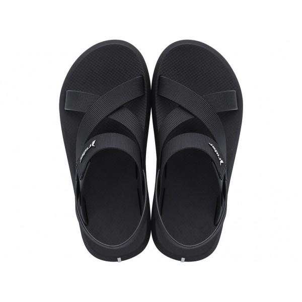 Комфортни мъжки бразилски сандали с велкро лепенка / Bull Rider 11566/20766 черен / MES.BG