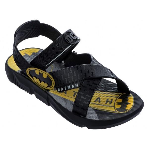 Детски бразилски сандали за малките фенове на ''BATMAN'', тик-так закопчаване / Bull Ipanema 22169/20566 черен-жълт / MES.BG