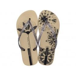 Комфортни бразилски чехли с леко и гъвкаво ходило / Bull Ipanema 26454/25252 бежов / MES.BG