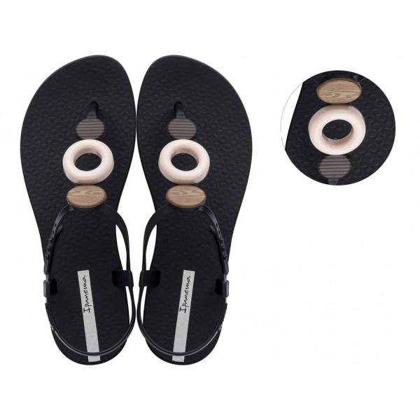 Комфортни бразилски сандали с леко и гъвкаво ходило / Bull Ipanema 26466/20138 черен-бежов / MES.BG
