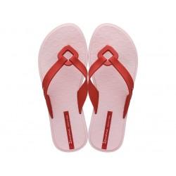 Дамски бразилски чехли, еластично и гъвкаво ходило / Bull Ipanema 26515/20697 розов-червен / MES.BG