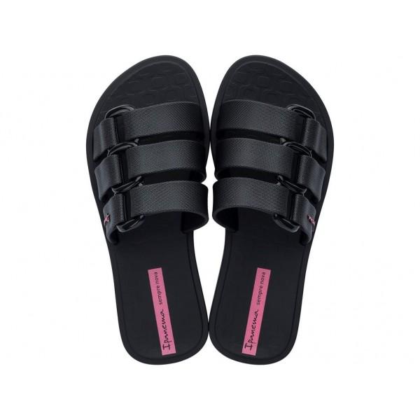 Ароматизирани детски чехли с три успоредни ленти / Bull Ipanema 26520/20766 черен / MES.BG