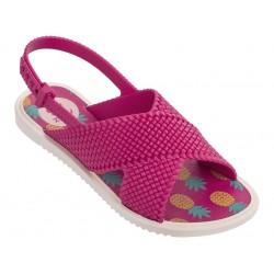 Комфортни детски сандали с удобно тик-так закопчаване/ Bull ZAXY 82317/22551 бежов-розов / MES.BG