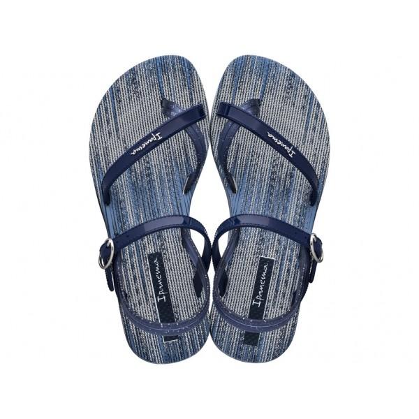 Комфортни детски сандали, тънки каишки, катарама / Bull Ipanema 82522/20032 син-бял / MES.BG