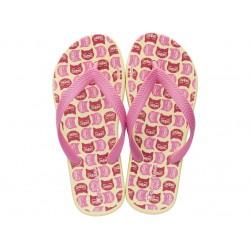 Комфортни детски джапанки с лента между пръстите / Bull 82635 жълт-розов / MES.BG