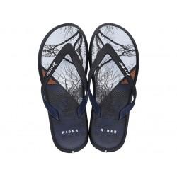 Мъжки бразилски чехли с лента между пръстите / Bull Rider 82731/24416 син-черен-бял / MES.BG