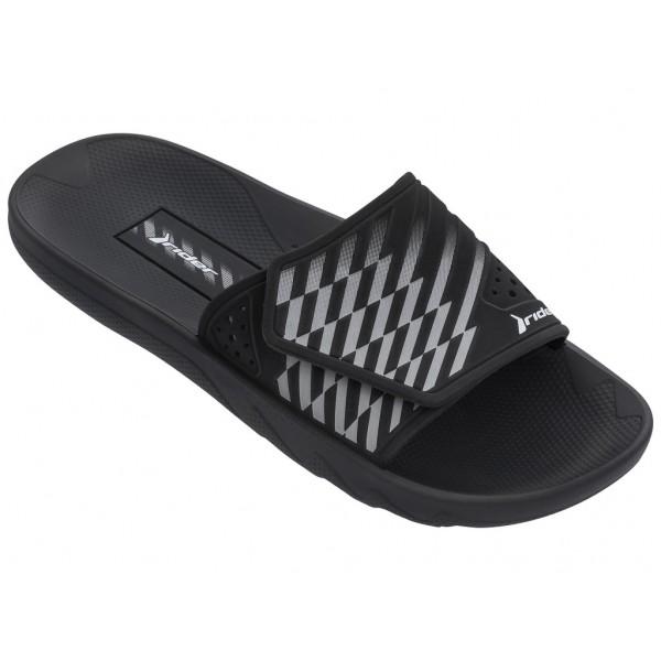 Мъжки олекотени бразилски чехли с велкро закопчаване / Bull Rider 82737/20766 черен / MES.BG