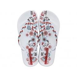 Ароматизирани бразилски чехли с лента между пръстите / Bull Ipanema 82769/20746 бял / MES.BG