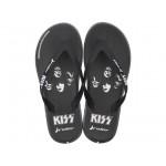 Мъжки бразилски чехли с апликация ''KISS'' / Bull Rider 82808/21194 черен-бял / MES.BG