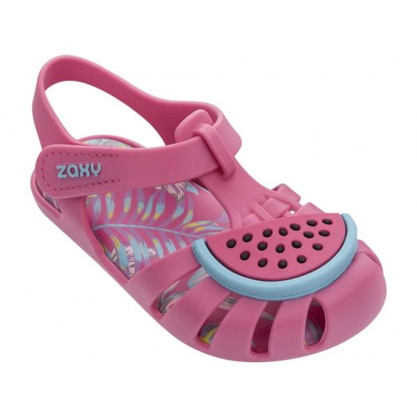 Комфортни бебешки сандалки с велкро лепенка / Bull Zaxy 82863 розов-син / MES.BG