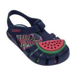 Комфортни бебешки сандалки с велкро лепенка / Bull Zaxy 82863 син-зелен / MES.BG