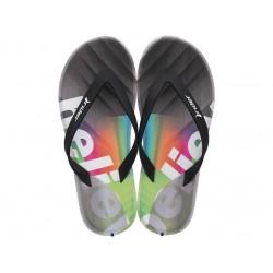 Анатомични бразилски чехли с лента между пръстите / Bull Rider 83056/25053 зелен-черен / MES.BG