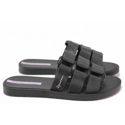 Анатомични бразилски чехли, напречни ленти, гъвкаво ходило / Ipanema 26519 черен / MES.BG