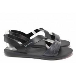 Удобни бразилски сандали, анатомични, гъвкаво ходило / Ipanema 82429 черен / MES.BG