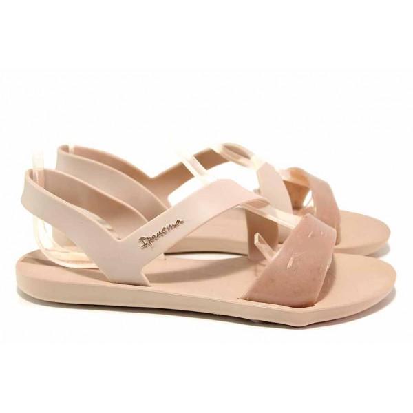 Анатомични бразилски сандали без закопчаване, еластична подметка / Ipanema 82429 розов / MES.BG